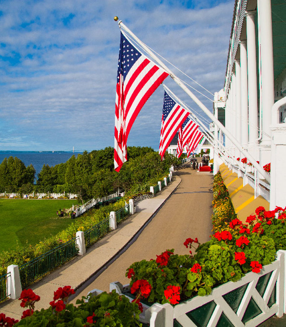 Hotel/USA/Michigan/Mackinac Island/Grand Hotel/großes Bild