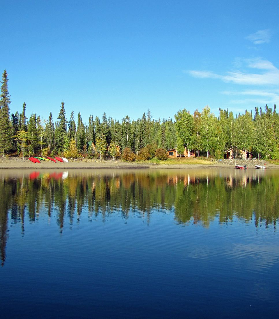 Hauptmotiv/Kanada/Yukon/Hotel/Frances Lake Lodge/Panorama