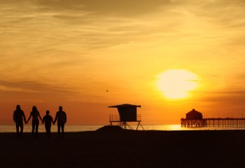 Sonnenuntergang am Huntington Beach