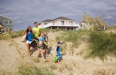 Strandtag mit der Familie am Sandbridge Beach