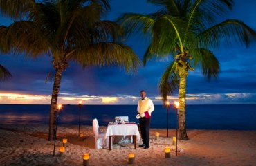 Romantisches Dinner im Galley Bay Resort & Spa