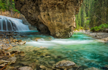 Tolle Fotomotive im Johnston Canyon