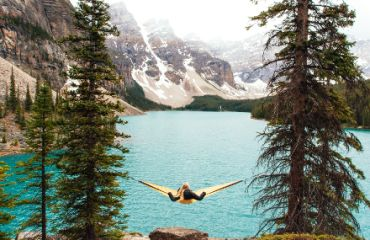 Entspannung am Maligne Lake I Foto: Travel Alberta