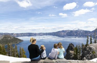 Wundervolle Aussicht am Crater Lake