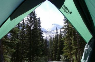 Camping in den Rocky Mountains