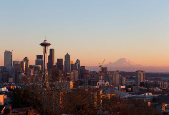 Seattle Skyline mit Space Needle