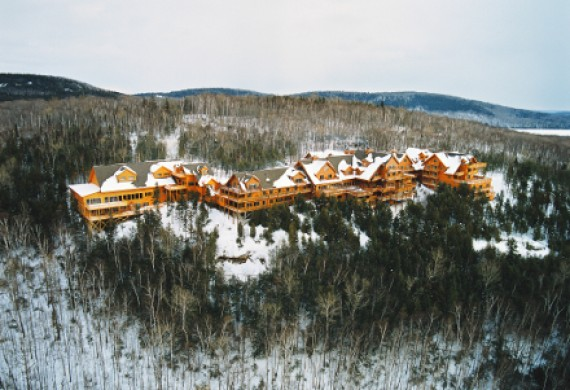 Die Sacacomie Lodge im Winter